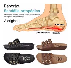 2 Pares De Sandália Ortopético Para Dores Nos Pés Original