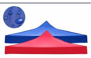 Lona 420d Repuesto Toldo Techo Plegable 2x2 Azul Rojo