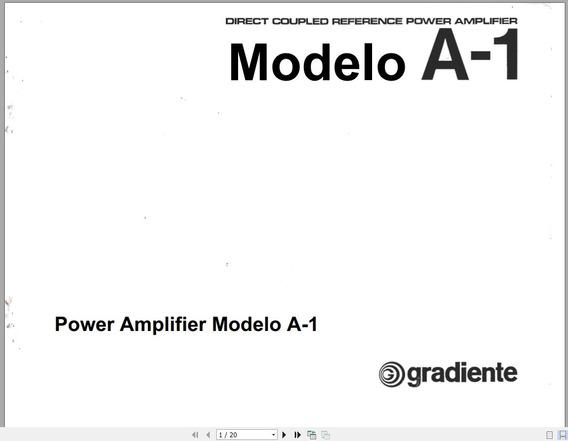 Manual Em Português Do Power Amplifier Modelo A-1 Gradiente