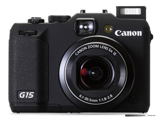Canon Powershot G15 + Adaptador P/ Filtros 58mm Usada.