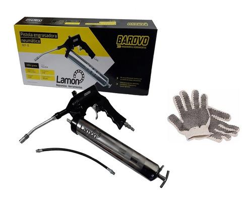 Engrasadora Grasera Manual Neumática + Flexible Barovo