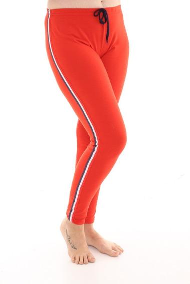 Pantalon Largo Pijama De Invierno Mujer Liso Con Tiras 613