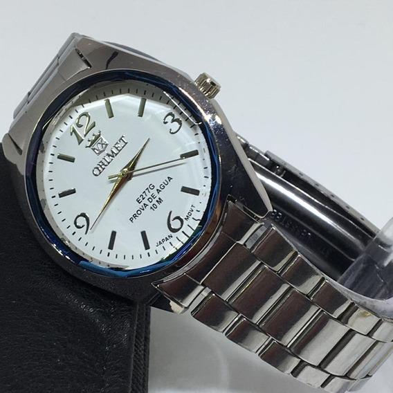 Relógio Unissex De Pulso Dourado Prata Orimet Barato.