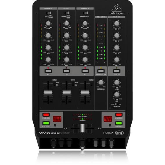 Mixer Dj Vmx-300 Usb 110v- Behringer - Mg Som