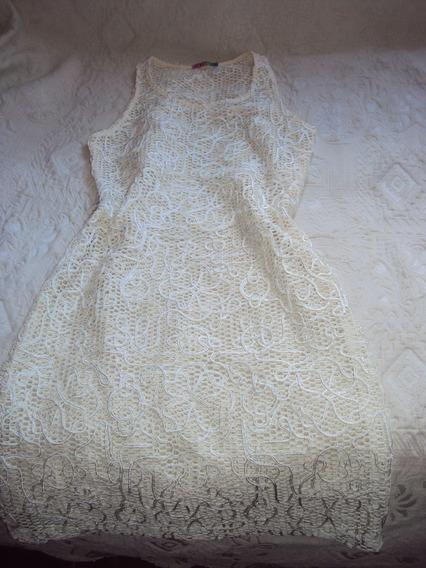 Vestido Com Tecido Vazado E Brilho Tazza Tam P