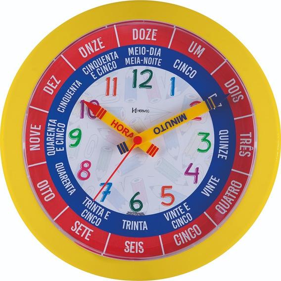 Relógio De Parede Fala As Horas 26cm Herweg Educativo 660046