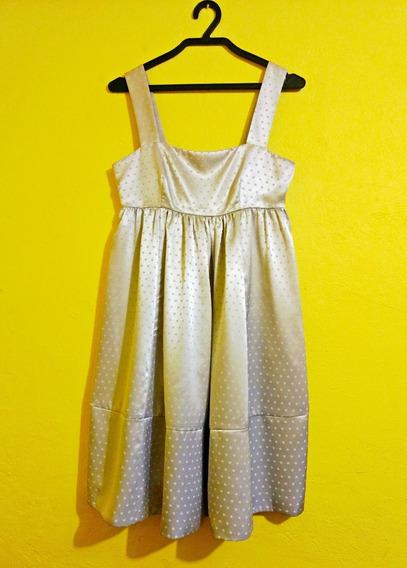 Vestido Marca Express Color Plata Talla Chica