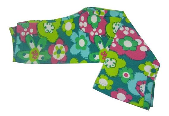 Calzas Oxford De Algodon Y Lycra Con Estampado De Flores