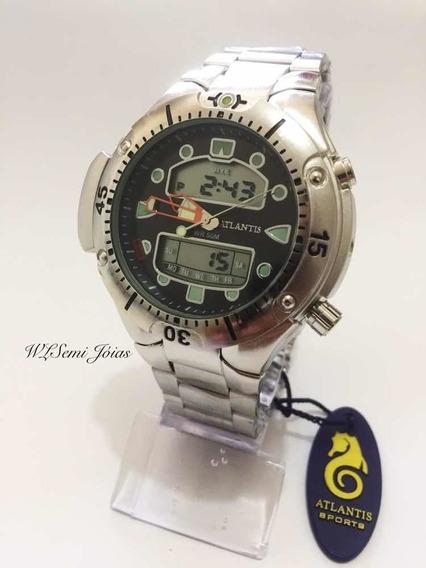 Relogio Atlantis Modelo Jp1060 Aqualand Black