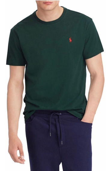Remeras Classic Fit Verde Oscuro Polo R Lauren (25% Off)