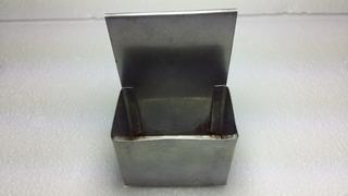 Suporte Porta Caixa De Fósforo Inox Antigo Coleção Decoração