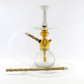 Narguile Pequeno Triton Zip Hookah Dourado Barato Completo