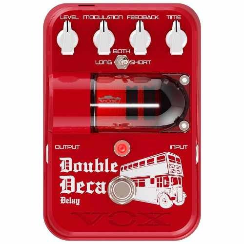 Pedal Vox Tonegarage Double Deca Delay - Tg2 - Dddl Vermelho