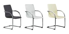 Cadeira Executiva Clean Fixa Com Base Cromada