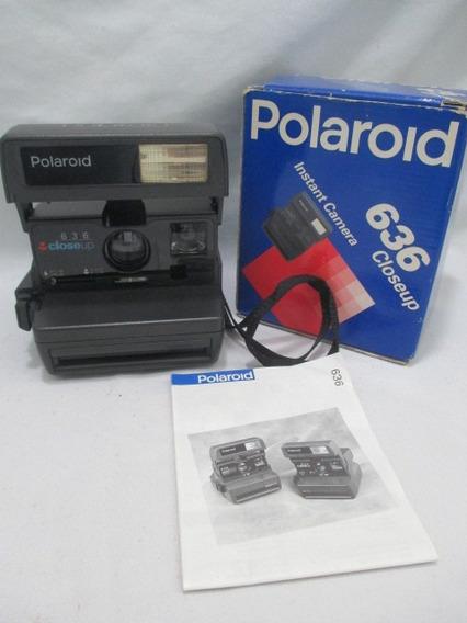 Antiga Camera Polaroid 636 Closeup Com Caixa Manual Cam 3