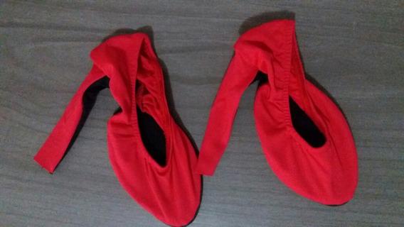 Capa Fashion Para Sapato Salto Grosso Vermelho