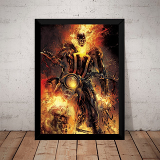 Quadro Poster Motoqueiro Fantasma Arte Hq Comic Geek