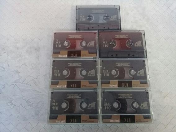 Lote 7 Fitas Cassete K7 Virgens Maxell Chrome 110 Minutos