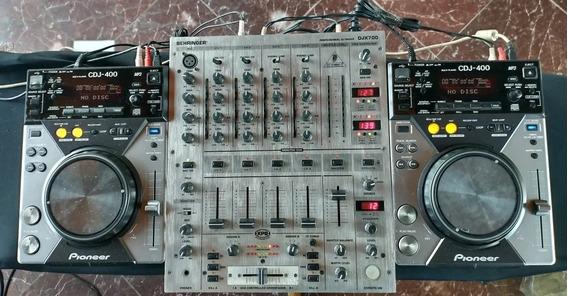 Par Cdj 400 + Mixer Djx 700 + Case