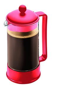 Cafetera De Prensa Francesa Tetera Bodum De 1 Litro Roja