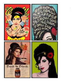 Quadro Poster Decorativo Amy Winehouse Artista 30x42cm A3