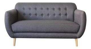 Sofa Love Seat Peperomia 2 Plazas - Madera Y Tapiz