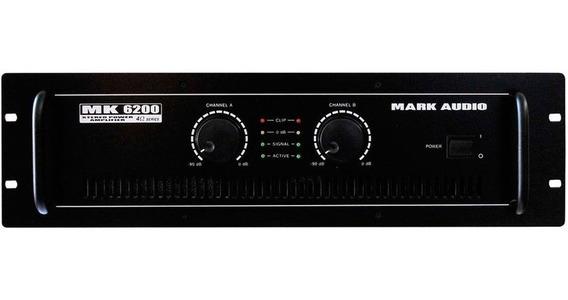 Amplificador Potência Mark Audio Mk 6200 1200wrms Mk6200