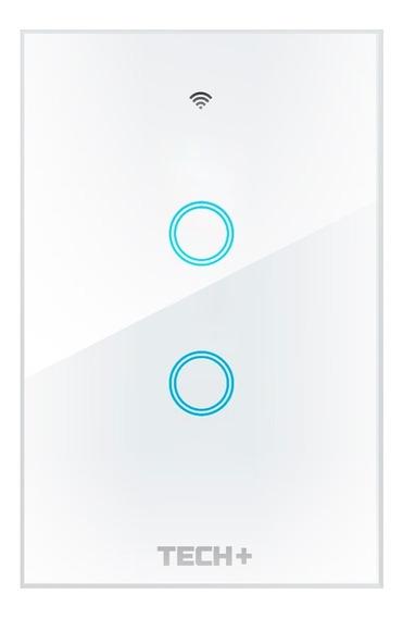 Interruptor De Luz Smart Wifi Táctil Con Cristal - 2 Gang