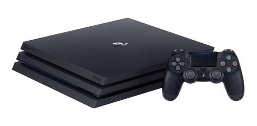 Imagem 1 de 2 de Sony PlayStation 4 Pro 1TB Standard cor  preto onyx