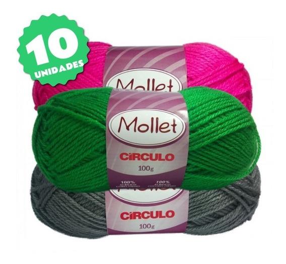 Lã Mollet 100g - Kit 10 Unidades