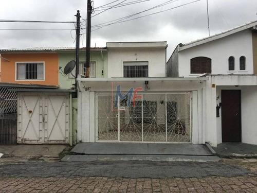 Imagem 1 de 12 de Ref 9951 Linda Casa Assobradada Para Venda No Bairro Vila Mariana, 3 Dorm, 2 Vagas, 300 M² M, Muito Bem Localizado. - 9951