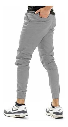 Pantalon Jogger De Gabardina Para Hombre Color Perla Opps Jeans