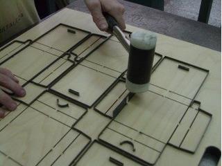 Troquel Para Caja Automontable 22 X 15 X 7 De Alto