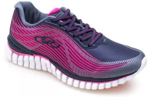 Tenis Feminino Elevation Marinho Pink Olympikus 594