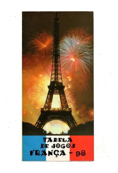 Propaganda Antiga Tabela Copa Mundo França 1998 - Gedore