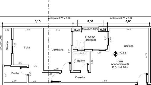 Cobertura Com 2 Dormitórios À Venda, 116 M² Por R$ 340.000,00 - Vila Humaitá - Santo André/sp - Co4801
