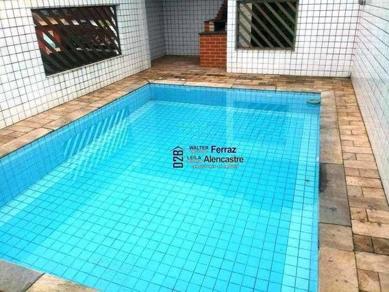 Sobreposta 4 Dormitórios À Venda, 375 M² Por R$ 1.200.000 - Boqueirão - Santos - Sp - Ca0058