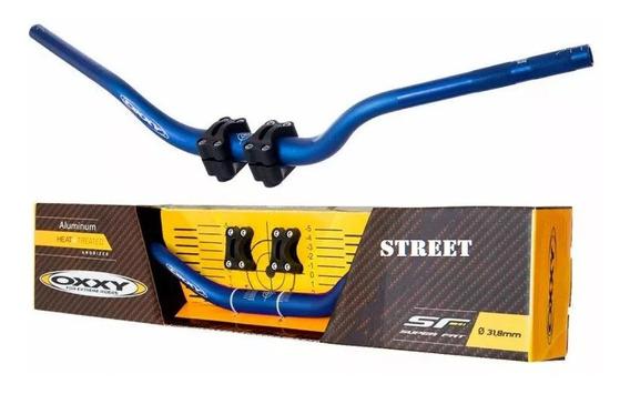 Guidão Oxxy Alto Street +adaptador Baixo 31,8mm
