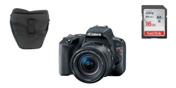 Camera Canon Sl2 C/18-55 Stm Revenda Autorizada+bolsa+sd16gb