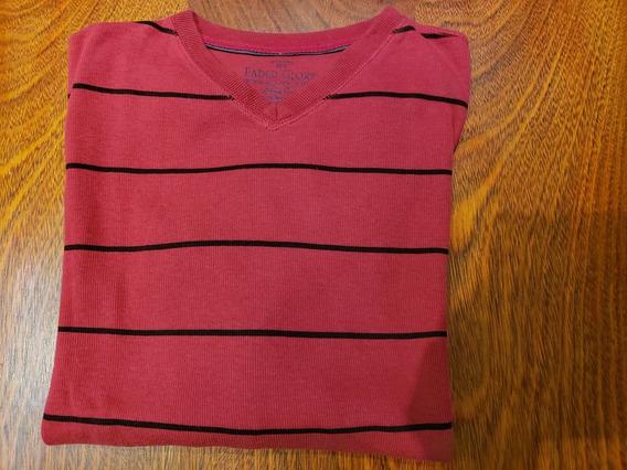Sweter Importado Rojo Y Negro Talle L