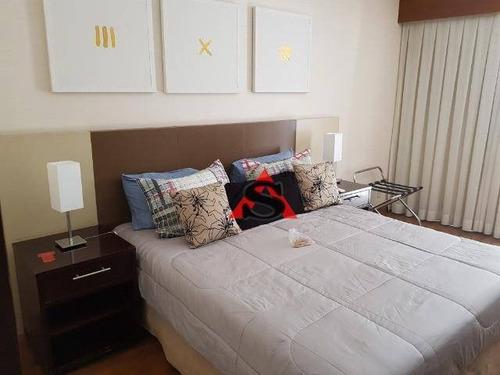 Flat Com 1 Dormitório, 35 M² - Venda Por R$ 310.000,00 Ou Aluguel Por R$ 2.000,00/mês - Paraíso - São Paulo/sp - Fl0150