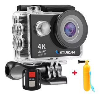 Camara Deportiva Sumergible Hd 4k Wifi 16mp + Baston Bobber