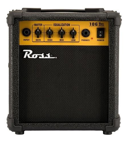 Imagen 1 de 3 de Amplificador Ross G10 Transistor para guitarra de 10W color negro/amarillo 220V