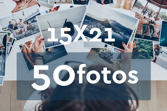 Revelação De Fotos 15x21 - 50 Unid - Grátis 4 Fotos 10x15