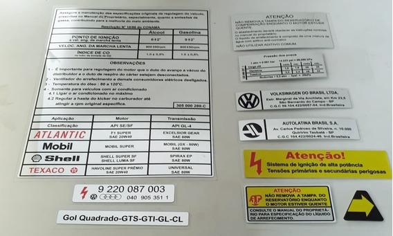 Kit Adesivos Capô Vw Gol Quadrado Excelente Qualidade