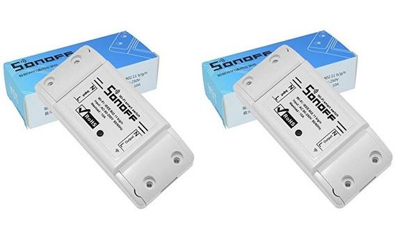 Kit 2 Un Sonoff Interruptor Tomada Wif Automação Residencial
