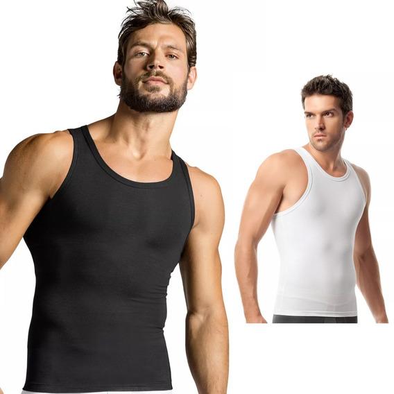Camisa Faja Reductora Moldeadora Esqueleto Hombre Geordi Gym