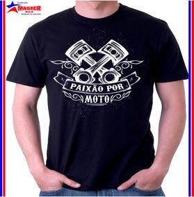 Camiseta Camisa Motociclista Estradeiro Paixão Por Moto