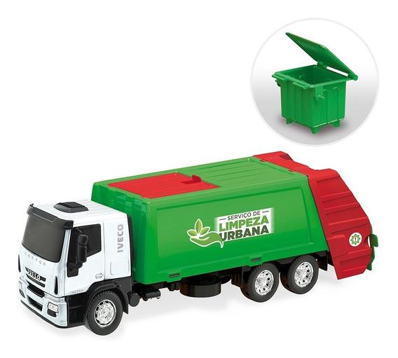 Brinquedo Caminhão Coletor De Lixo Iveco Tector 342