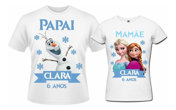 Camisetas Personalizadas Frozen - 2pçs
